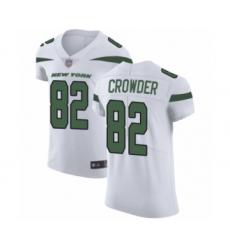 Men's New York Jets #82 Jamison Crowder White Vapor Untouchable Elite Player Football Jersey