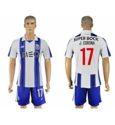 Oporto #17 J.Corona Home Soccer Club Jersey