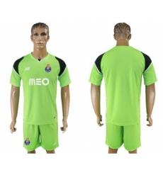 Oporto Blank Shiny Green Goalkeeper Soccer Club Jersey