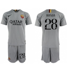 Roma #28 Bianda Away Soccer Club Jersey