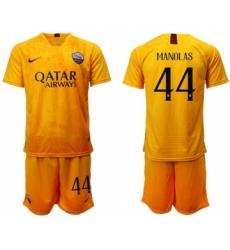 Roma #44 Manolas Third Soccer Club Jersey