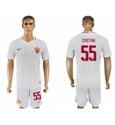 Roma #55 Castan Away Soccer Club Jersey