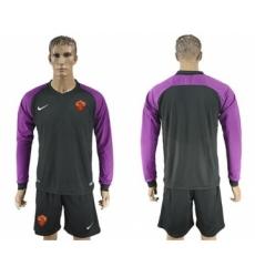 Roma Blank Black Goalkeeper Long Sleeves Soccer Club Jersey