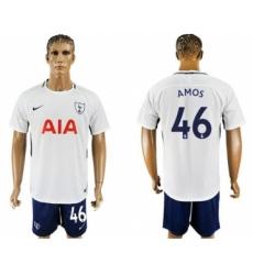 Tottenham Hotspur #46 Amos White Blue Soccer Club Jersey
