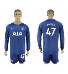 Tottenham Hotspur #47 Miller Away Long Sleeves Soccer Club Jersey