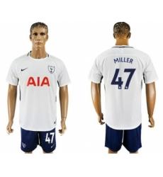 Tottenham Hotspur #47 Miller White Blue Soccer Club Jersey