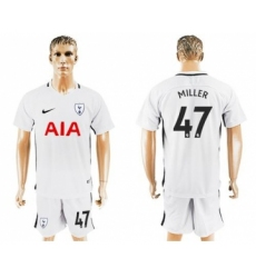 Tottenham Hotspur #47 Miller White Home Soccer Club Jersey