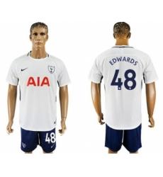 Tottenham Hotspur #48 Edwards White Blue Soccer Club Jersey