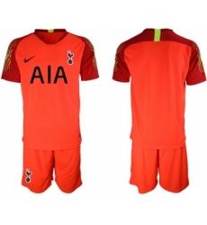 Tottenham Hotspur Blank Red Goalkeeper Soccer Club Jersey