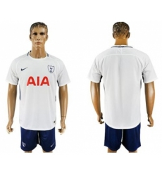 Tottenham Hotspur Blank White Blue Soccer Club Jersey
