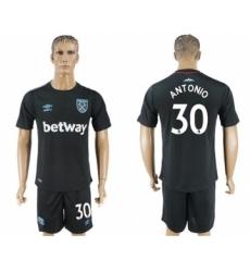 West Ham United #30 Antonio Away Soccer Club Jersey