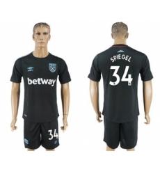 West Ham United #34 Spiegel Away Soccer Club Jersey