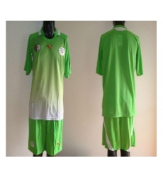 Algeria Blank Green Away 2012 2013 Soccer Country Jersey