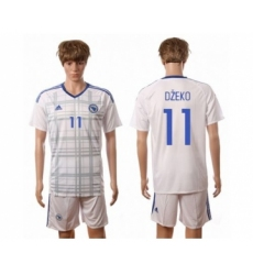 Bosnia Herzegovina #11 Dzeko Away Soccer Country Jersey