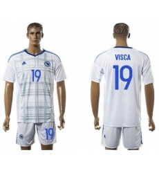 Bosnia Herzegovina #19 Visca Away Soccer Country Jersey