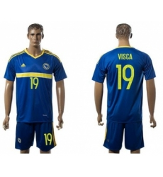 Bosnia Herzegovina #19 Visca Home Soccer Country Jersey