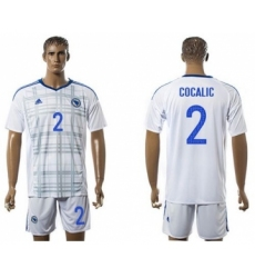 Bosnia Herzegovina #2 Cocalic Away Soccer Country Jersey