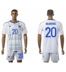 Bosnia Herzegovina #20 Hajrovic Away Soccer Country Jersey