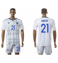 Bosnia Herzegovina #21 Hardzic Away Soccer Country Jersey