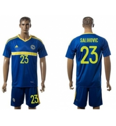 Bosnia Herzegovina #23 Salihovic Home Soccer Country Jersey