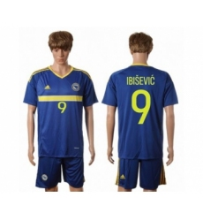 Bosnia Herzegovina #9 Ibisevic Home Soccer Country Jersey