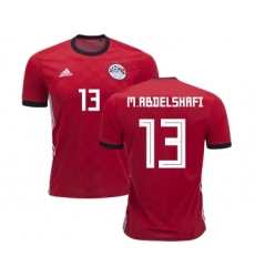 Egypt #13 M.Abdelshafi Red Home Soccer Country Jersey