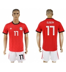 Egypt #17 Elneny Red Home Soccer Country Jersey