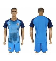 Egypt Blank Blue Goalkeeper Soccer Country Jersey