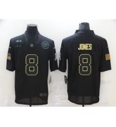Men's New York Giants #8 Daniel Jones Black Nike 2020 Salute To Service Limited Jersey