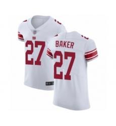 Men's New York Giants #27 Deandre Baker White Vapor Untouchable Elite Player Football Jersey