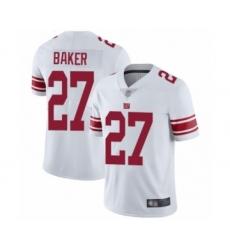 Men's New York Giants #27 Deandre Baker White Vapor Untouchable Limited Player Football Jersey
