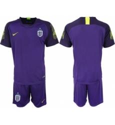 England Blank Purple Goalkeeper Soccer Country Jersey