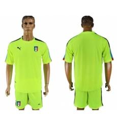 Italy Blank Shiny Green Goalkeeper Soccer Country Jersey