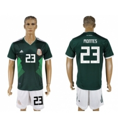 Mexico #23 Montes Green Home Soccer Country Jersey