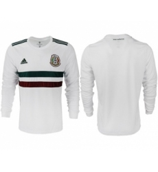 Mexico Blank Away Long Sleeves Soccer Country Jersey