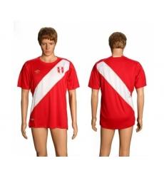 Peru Blank Away Soccer Country Jersey
