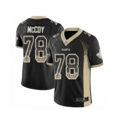 Men's New Orleans Saints #78 Erik McCoy Limited Black Rush Drift Fashion Football Jersey