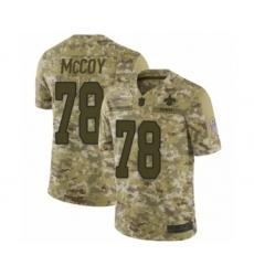 Men's New Orleans Saints #78 Erik McCoy Limited Camo 2018 Salute to Service Football Jersey