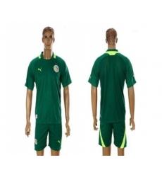 Senegal Blank 2012 2013 Green Away Soccer Country Jersey