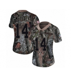 Women's Seattle Seahawks #14 D.K. Metcalf Limited Camo Rush Realtree Football Jerse