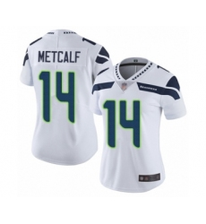 Women's Seattle Seahawks #14 D.K. Metcalf White Vapor Untouchable Limited Player Football Jersey