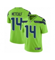 Youth Seattle Seahawks #14 D.K. Metcalf Limited Green Rush Vapor Untouchable Football Jersey