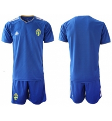 Sweden Blank Away Soccer Country Jersey