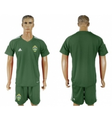 Sweden Blank Green Goalkeeper Soccer Country Jersey