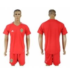 Sweden Blank Red Goalkeeper Soccer Country Jersey