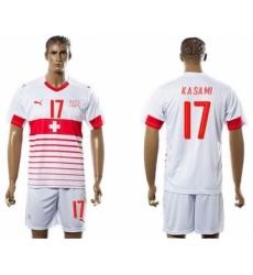 Switzerland #17 Kasami Away Soccer Country Jersey