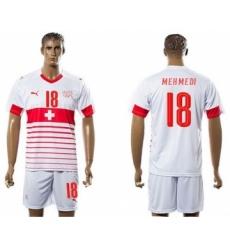 Switzerland #18 Mehmedi Away Soccer Country Jersey