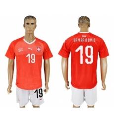 Switzerland #19 Gavranovic Red Home Soccer Country Jersey