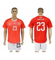 Switzerland #23 Shaqiri Red Home Soccer Country Jersey
