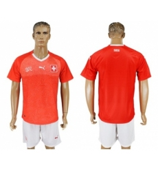 Switzerland Blank Red Home Soccer Country Jersey